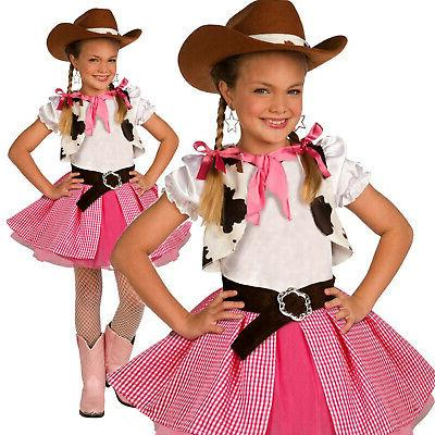 girls cowgirl cutie costume kids western cow