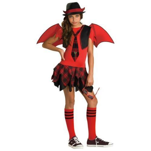 girls devil costume kids tween halloween fancy