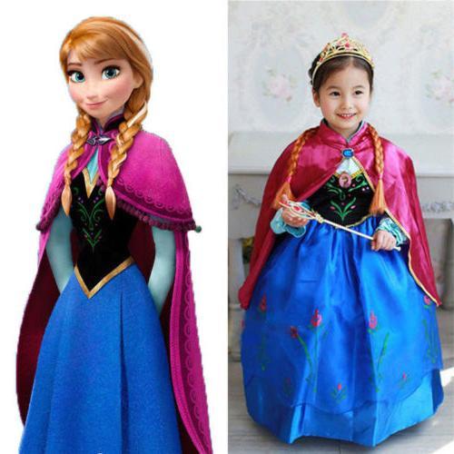 girls disney elsa frozen dress costume princess