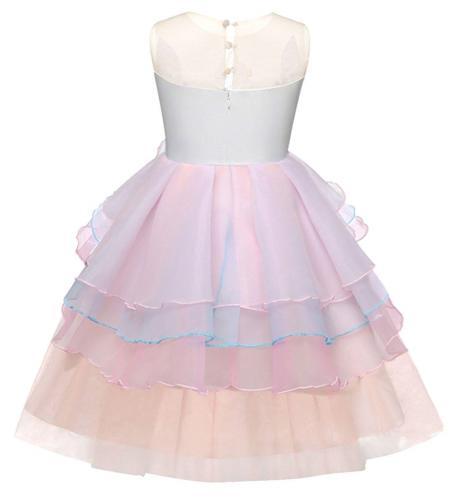 AmzBarley Unicorn Costume Princess Pageant Party Dresses Kids
