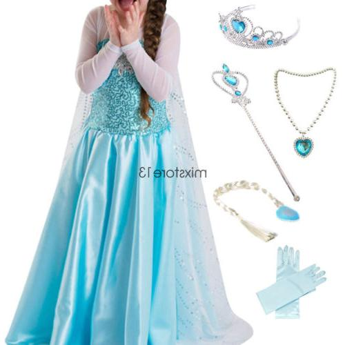Dress Snow Party Costume Dress&Accessories