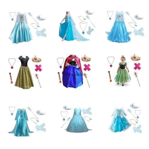 Girls Frozen Dress Snow Party