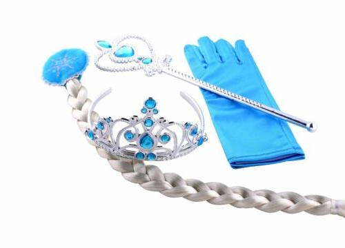 Kids Elsa Dress Princess Queen Costume Party