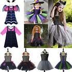 Girls Kid Vampire Witch Tutu Dress Fancy Costume Cosplay Par