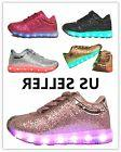 Link Girls Kids & Toddler Signal Glittering LED Tennis Shoes