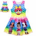 Girls Kids Lol Surprise Doll Polka Dot  Party Dress Costume