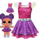 Girls Kids Lol Surprise Doll Summer Party Dress Costume Tutu