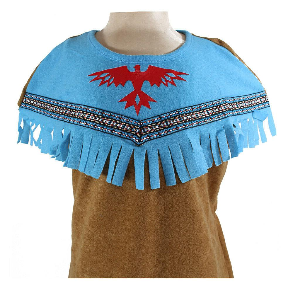 Girls Native Red Squaw Dress Up