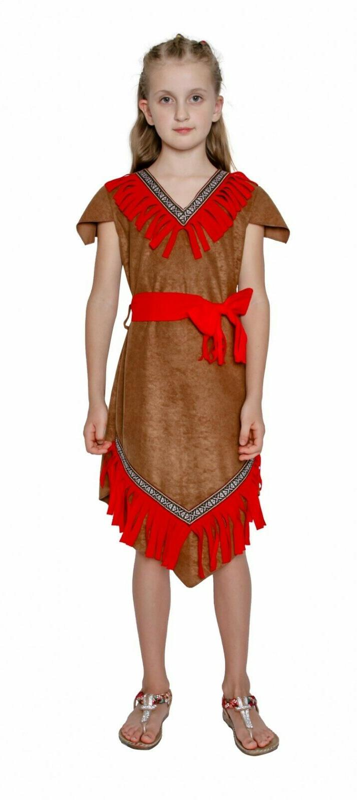Girls Red Indian Dress