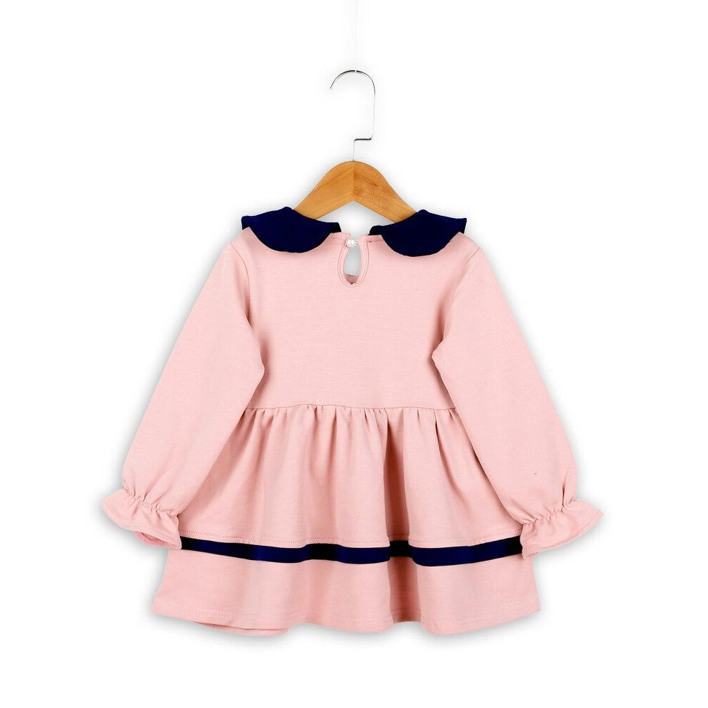 Girls Party Dress <font><b>Kids</b></font> Princess Collar Fashion Dresses Children Girl Baby Clothes