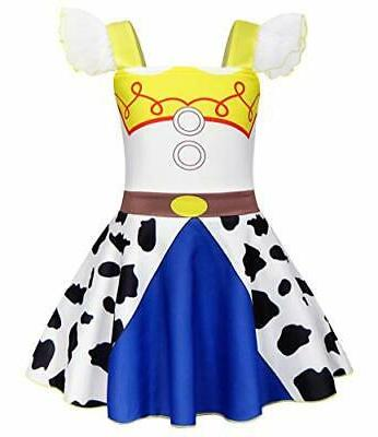 girls princess halloween cowgirl costume outfit kids