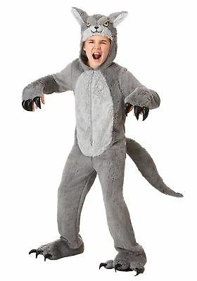 Grey Wolf Costume Kids