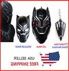 Halloween Marvel Superhero Black Panther Costume Face LED Ma