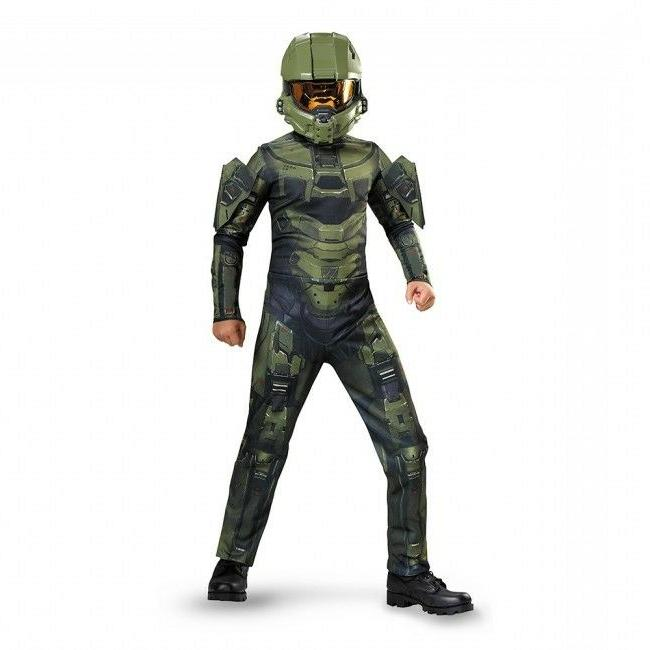 Disguise Halo Master Chief Classic Video Games Boys Kids Hal