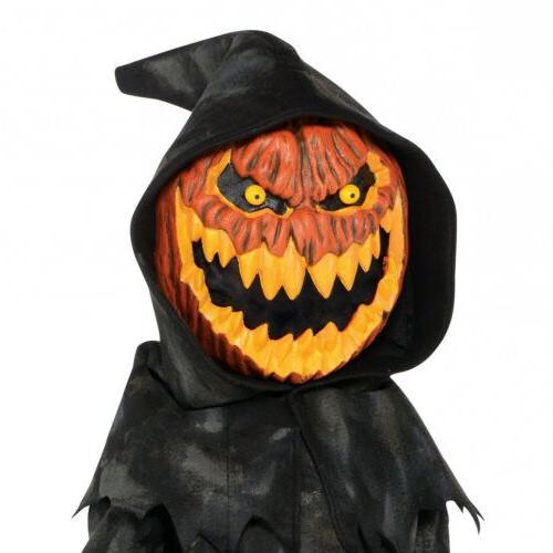 Jack O Lantern Costume Kids Pumpkin Reaper Scary Halloween