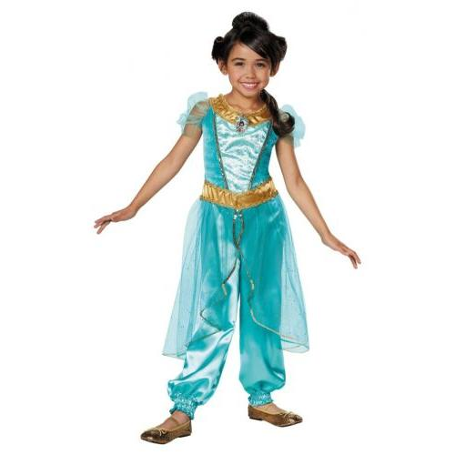 Jasmine Costume Kids Disney Princess Halloween Fancy Dress U