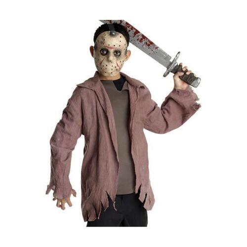 Jason Costume Kids Friday The 13th Halloween Fancy Dress