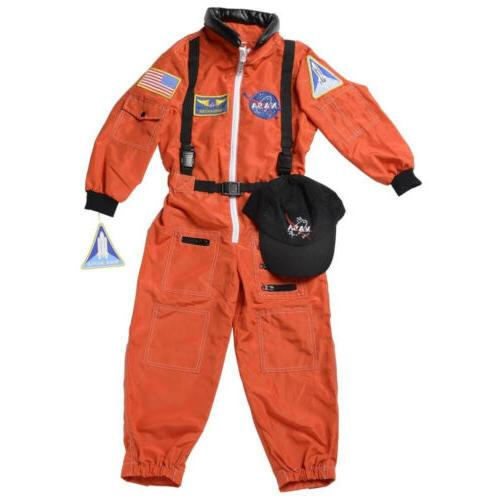 Aeromax Kids Costume w/ Cap and patches, ORANGE