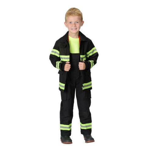jr child fire fighter bunker gear black