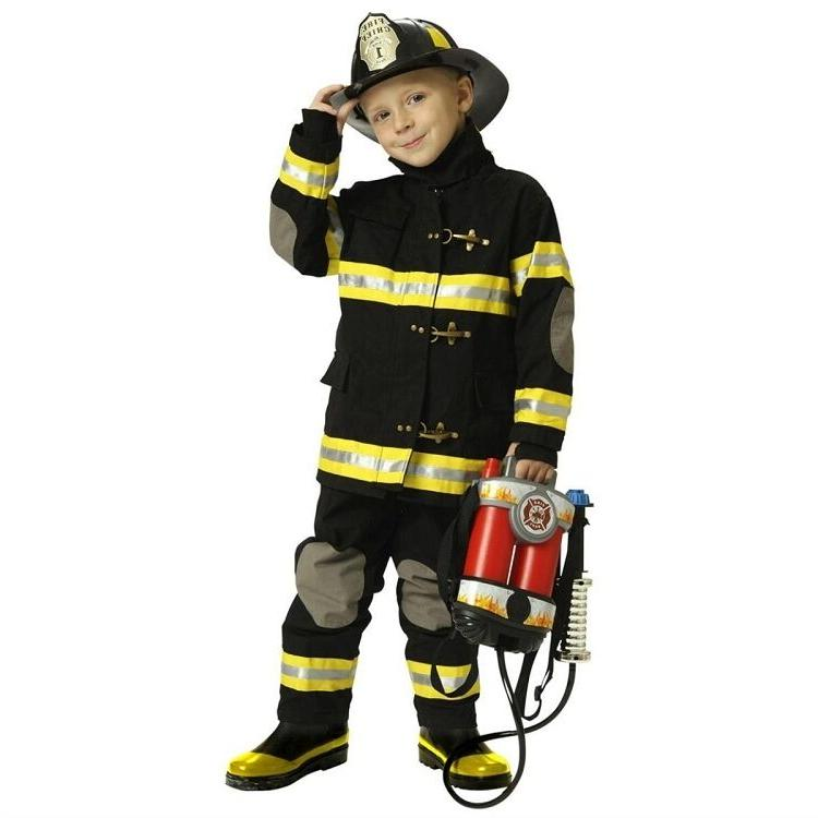 jr fireman fire fighter deluxe black child