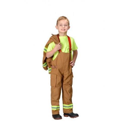 Jr. Fire Deluxe Tan Costume Suit w/ Helmet Aeromax FFT