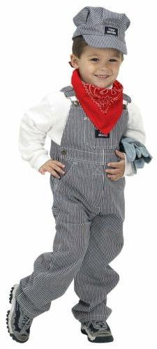 jr train engineer suit child kids costume