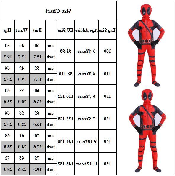 Kids Infant Superhero Cosplay Costume Halloween Fancy Dress