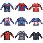 Kid Boys Anime T-shirts Superhero Compression Cosplay Costum