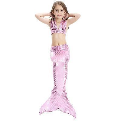 Kid Girl Tail Bikini Set - Swimmable Tail US