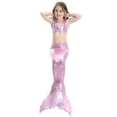 Kid Mermaid Bikini Set Tail US