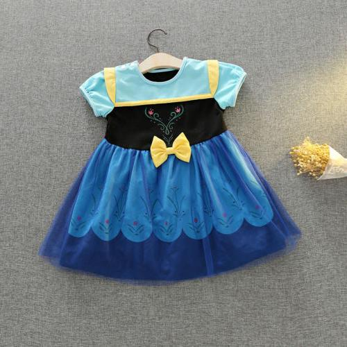 Kid Girl Princess Snow Cosplay Costume Party Fancy