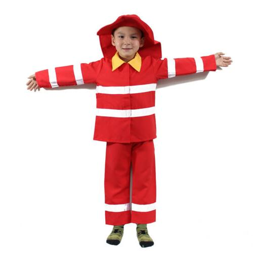 Kid's Firefighter Costume Outfit
