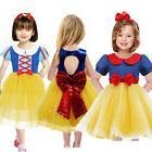 Kid's Princess Snow White Dress Cosplay Halloween Party Phot
