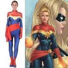 Kids Adult Captain Ms. Marvel Cosplay Costume Halloween Supe