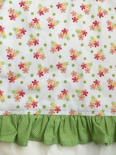 Kids Apron Chef Kitchen Flowers Pioneer Lime Green