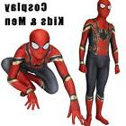 Kids Avengers Infinity War Iron Spiderman Super Hero Cosplay