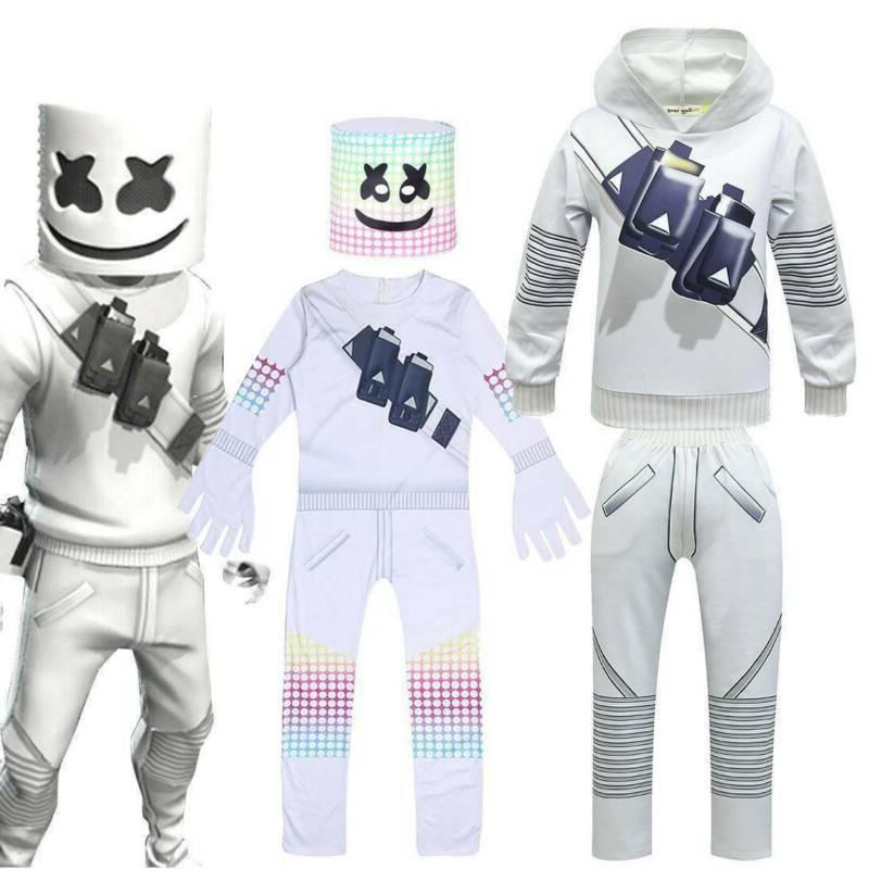 kids boys marshmallow costume cosplay halloween fancy