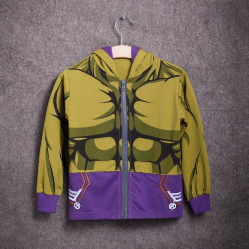 Kids Hooded Hoodies Jacket Coat Sweatshirt Jumper