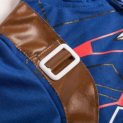 Kids Boys Hooded Hoodies Jacket Coat Sleeve Sweatshirt Jumper