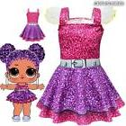 Kids Christmas Costumes Girls Cosplay LOL Surprise Doll Prin