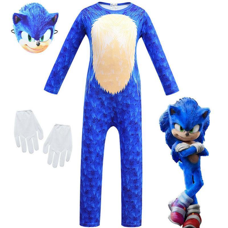 Kids Cosplay Sonic Hedgehog Fancy Set