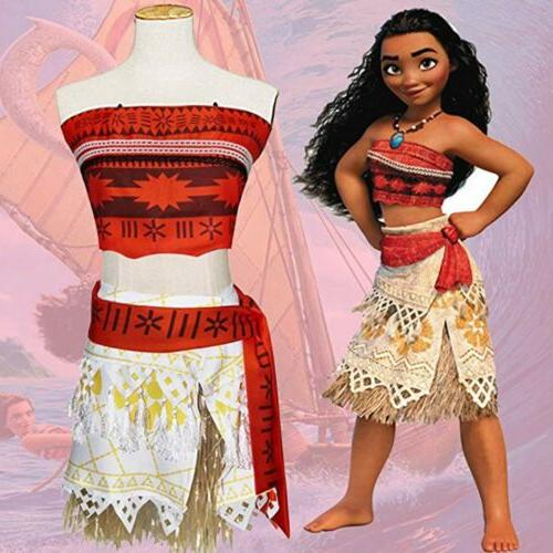 Kids Moana Dress Skirt Set
