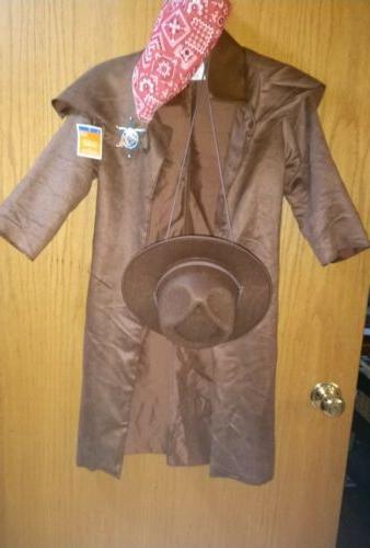 Kids Cowboy Large Wild Sheriff Ranger Hat Coat