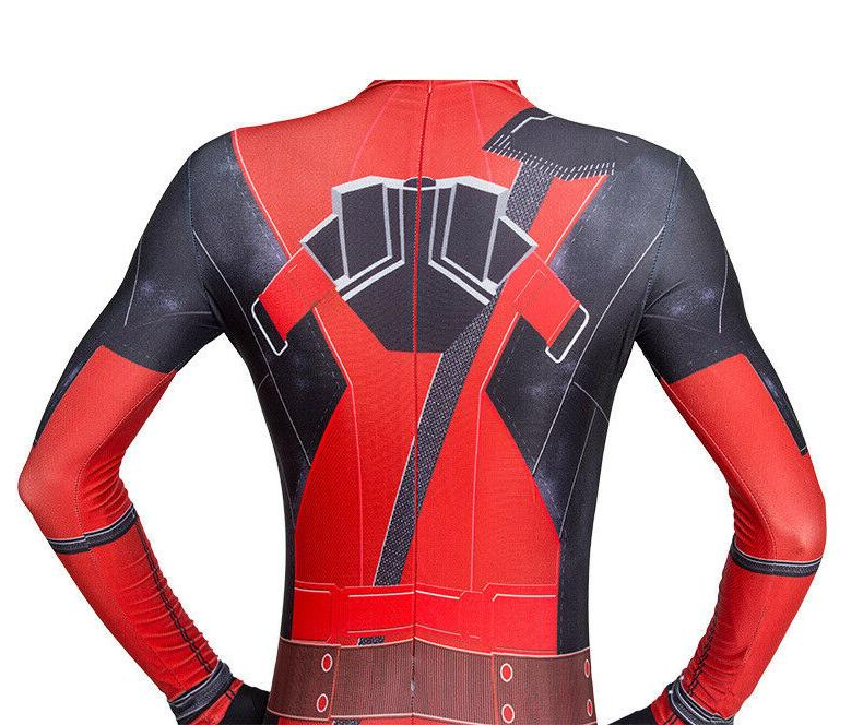 US Deadpool Cosplay Costume Jumpsuits Kids Bodysuits Without Knifes