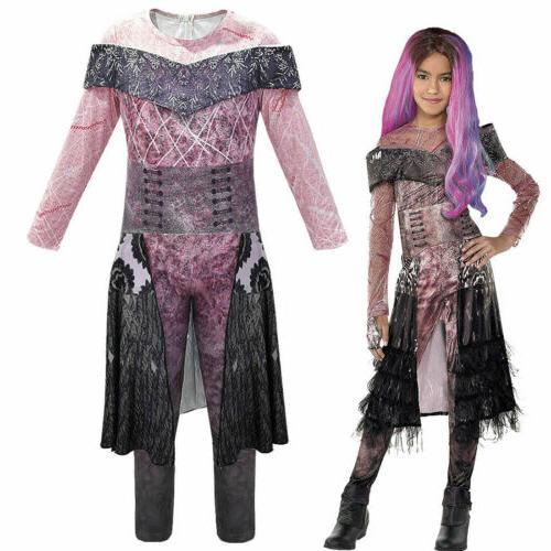 Kids Descendants 3 Mal Jumpsuit Halloween Cosplay Party Dress US