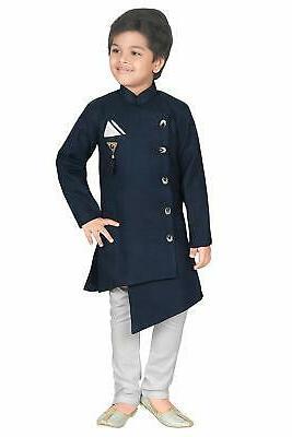 kids ethnic wear indo western kurta pyjama