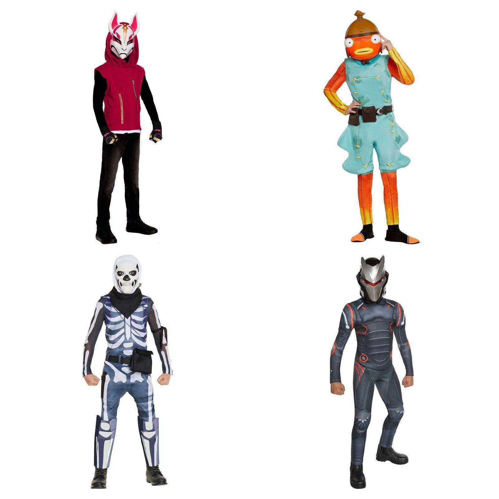 kids fortnite halloween costume fishtick or skull
