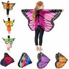Kids Girl Butterfly Wing Costume Princess Fairy Shawl Cape H