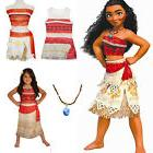 Kids Girl Costume Disney Moana Princess Cosplay Fancy Dress