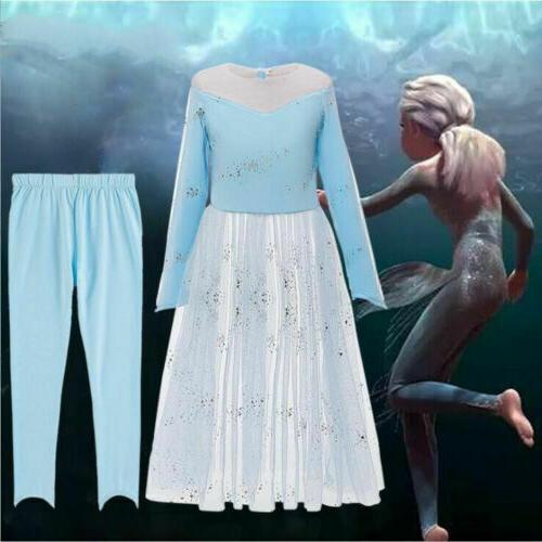 Kids Elsa Snow Party Dresses